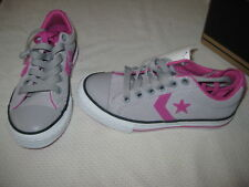 Girls Converse Star Player Pink Gray White Sneakers 11