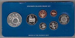 SOLOMON ISLANDS - PROOF 7 DIF COINS SET 1978 YEAR KM#1-7 PS2 SILVER  BOX + COA