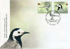 Latvia 2019 FDC Birds Europa White Wagtail 2v Set Cover Wagtails Stamps
