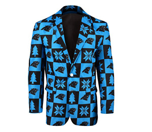 FOCO NFL Men's Carolina Panthers Patches Ugly Business Jacket