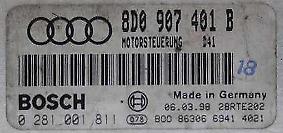 TUNED !!! AUDI A4 ECU 2.5 TDI V6 150 AFB 8D0907401B IMMO OFF PLUG&PLAY