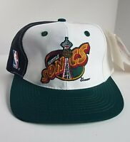 Vintage NBA Seattle Supersonics Script Snapback Hat RARE Sports Specialties NEW