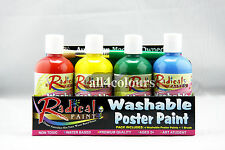 Australian Non-Toxic Washable Poster Paint Kit with Brush Radical Paint 250ml