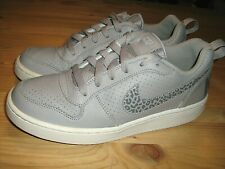 Nike Court Borough Low Bg Gray Shoes 845104-002 size 6Y (Eur 38.5)