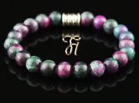 Jade grün pink Armband Bracelet Perlenarmband Buddha 8mm
