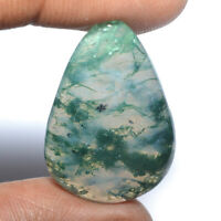 Cts. 26.85 Natural Designer Moss Agate Cab Pear Cabochon Loose Gemstone