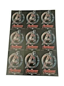 Avengers Age Of Ultron Trading Cards Sheet Uncut Disney Store