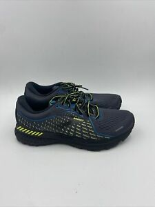 Brooks Mens Adrenaline GTS 21 Black/neon Yellow / Blue Size 8 M , 021