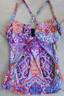 Seafolly Tankini Top AU 10 Wild Orchid Kashmir DD/E Cup Convertible Singlet Top