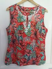 size 16 M&Co Boutique summer floral beaded dressy top