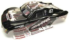 Nitro Slash BODY Shell (Black #47 Mike Jenkins Cover & Decal Traxxas 44054
