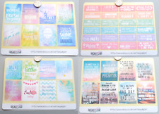 QUOTES Planner Scrapbooking Diary Organiser Icon Stickers ~ MULTIPLE DESIGNS