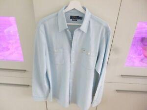 Polo Ralph Lauren XXL hellblaues Jeanshemd/ Bluse  ca. Gr.: LG /44