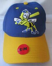 BURLINGTON BEES MILB OUTDOOR CAP ADJUSTABLE HAT S/M - NWT
