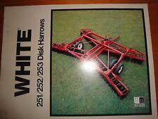 White WFE 251 252 253 Disk Harrows Advertising Brochure