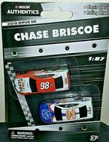 NASCAR AUTHENTICS 2019 1/87 #98 CHASE BRISCOE NUTRI CHOMPS/FORD 2 CAR SET WAVE 5