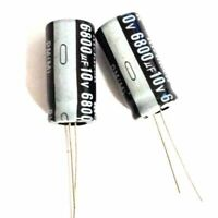 5PCS 10V 6800uF 10Volt 6800MFD 105C aluminum Electrolytic Capacitor 13mm×25mm