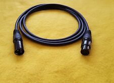 Mogami 2549 XLR-M to XLR-F 3 Pin Gold Contacts Balanced Audio Cable Black 10 ft