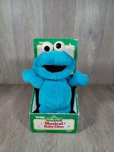 Vintage Tyco 1996 Sesame Street Musical Baby Elmo Plush New (Cookie Monster)