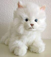 couché blanc chat, chat persan 27 cm chat en peluche stoffkatze de LEOSCO