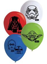 Disney Star Wars Party 10x Darth Vader Printed Balloons Helium Birthday Decorat