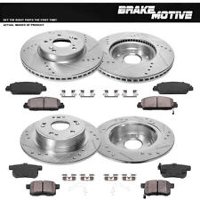 Front+Rear Brake Rotors And Ceramic Pads For 2013 2014 2015 - 2017 Honda Accord