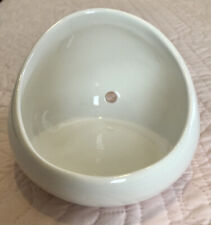 Soap Or Plant Holder Round Ceramic Wall Mounted Planter for Indoor Outdoor White