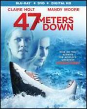 47 Meters Down Blu-ray DVD Digital 2 Disc Set Mandy Moore Claire Holt