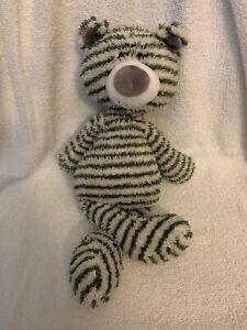 """GUND Plush Gray Striped BEAR Floppy Bungly - 16""""  ZAG  #4044071 Child Lovey Toy"""