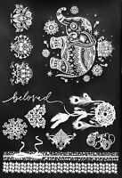 ALL NEW WHITE TATTOOS! Glitz by Mottos Temporary Jewelry Tattoos, White Pkg of 2