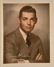 c. 1935 8x10 Colorized ORIGINAL MGM Photo Clark Gable Star Hollywood Actor