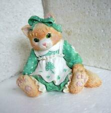 Enesco Calico Kittens Figurine Friendship is the Best O'Luck #623601 1993 Tan