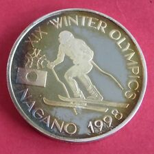 More details for romania 1998 nagano winter olympic games skier 100 lei silver proof pattern