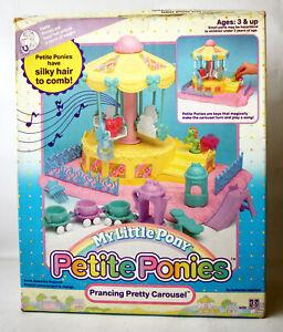 VINTAGE 1990 MY LITTLE PONY PETITE PONIES PRANCING PRETTY CAROUSEL HASBRO NEW !