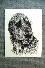 Irish Wolfhound Pen and Ink Stationary Cards, Note Cards, Greeting Card.10 pack.