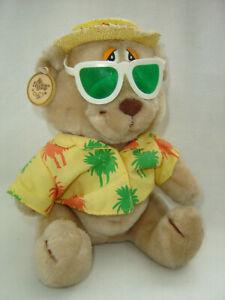 "Russ Love Pets ""Life's a Beach"" Bear Straw Hat Hawaiian Shirt Sunglasses 9"""