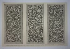 1876 Tarnow Cathedral, Fifteenth Century Carved Panel Ornaments Engraving