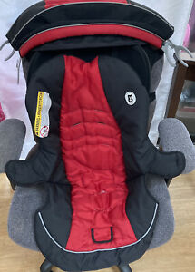 Graco Click Connect Snugride Baby Car Seat Cover Canopy Set Red & Black