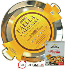 STAINLESS STEEL PAELLA PAN 32cm INDUCTION & VITROCERAMIC + PAELLA GIFT