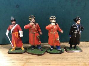 Assorted Cossacks,  c1815. 54mm Lead Figures. Post War