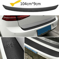 Matte Black Car Rear Bumper Trunk Sill Lip Cover Carbon Scuff Protection Sticker