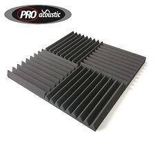 """8x AFW305 Pro Acoustic Foam Tiles 12"""" 305mm Sound Treatment  Studio Wedge Tiles"""