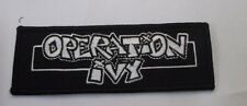 Operation Ivy Collectable Rare Vintage Patch Embroided 2006 Metal
