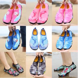 Mens Women Kids Water Shoes Aqua Sock Yoga Beach Surfing Reef Swimming Diving