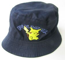 Pokemon Youth Pikachu Navy Blue Bucket Hat w/ Embroidery