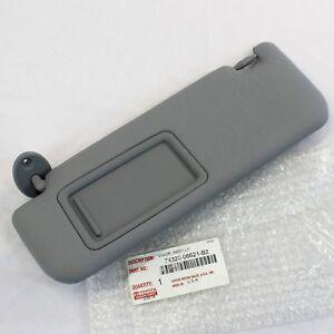 New OEM Toyota 12-17 Camry Gray Left Driver Sun Visor 74320-33F50-B0