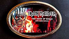 IRON MAIDEN - Rock --The Book of Souls Epoxy Photo Belt Buckle - NEW!