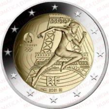 2 EURO FRANCIA 2021 OLIMPIADI PARIGI 2024 FDC - MONETA UFFICIALE