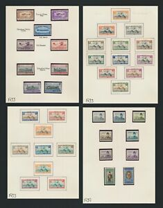 EGYPT STAMPS 1933-1939 4 PAGES MOG INC AIRMAIL SETS Sc #172/6, C5/25, 1939 £1