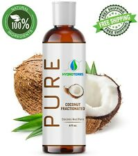 Fractionated Coconut Oil 4 oz 100% Pure Natural For Skin, Hair Growth & Massage